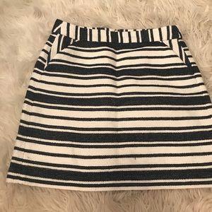 Navy Blue & White Banana Republic Highwaist Skirt
